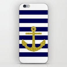 Gold Anchor iPhone & iPod Skin
