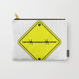 Barbed Wire Warning Sign Carry-All Pouch