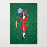 captain hook Canvas Prints featuring Captain Hook by AmadeuxArt