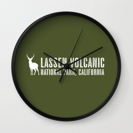 Deer: Lassen Volcanic, California Wall Clock