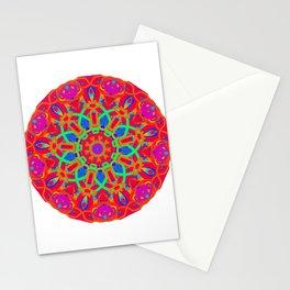 Red Peacock Mandala Stationery Cards