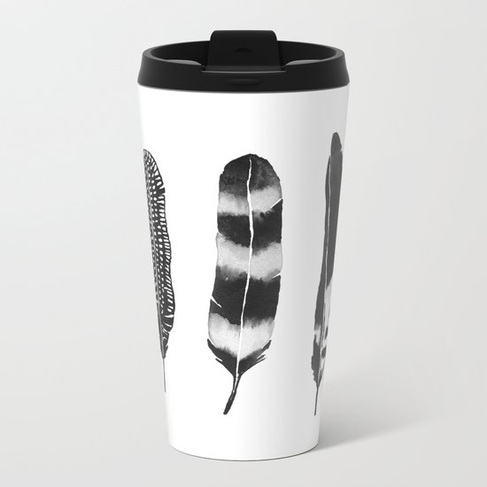 Dark Feather Metal Travel Mug