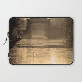 Bridge in morning sun and mist Laptop Sleeve