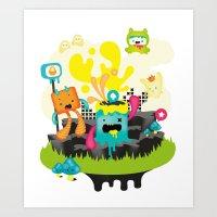 Meeting point Art Print