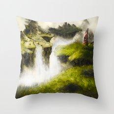 Abandoned Lands Throw Pillow