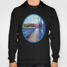 Water Over The Bridge - Colored Pencil Drawing Hoody