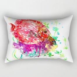 Discus Red Purple Aquatic Colorful fish design aquarium Rectangular Pillow