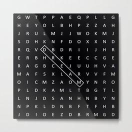 Dream crossword Metal Print