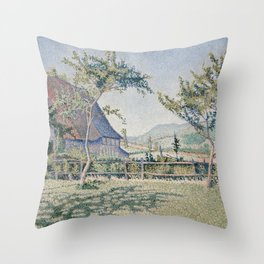 Comblat-le-Château, the Meadow Throw Pillow