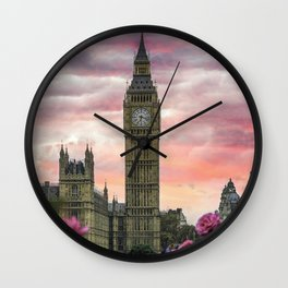 London Pink Wall Clock