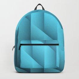 Gradient Teal Diamonds Geometric Shapes Backpack