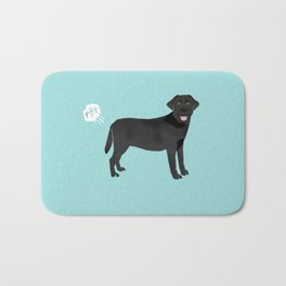 Black Lab funny fart dog breed gifts labrador retrievers Bath Mat