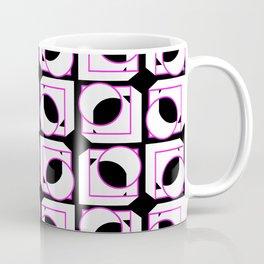 Tubes in Cubes Pink on Black Coffee Mug