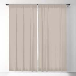 Soft Beige Brown Solid Color Pairs To Valspars 2021 Color of the Year Gallery Grey 2006-10B Blackout Curtain