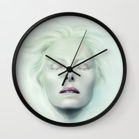milk Wall Clocks featuring Milk by Anne the Viking
