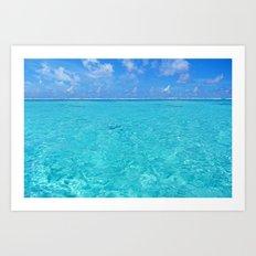Moorea Water Art Print