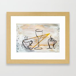 Beverage of Choice Framed Art Print