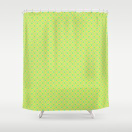 pattern and yellow background Shower Curtain