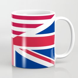 American and Union Jack Flag Coffee Mug