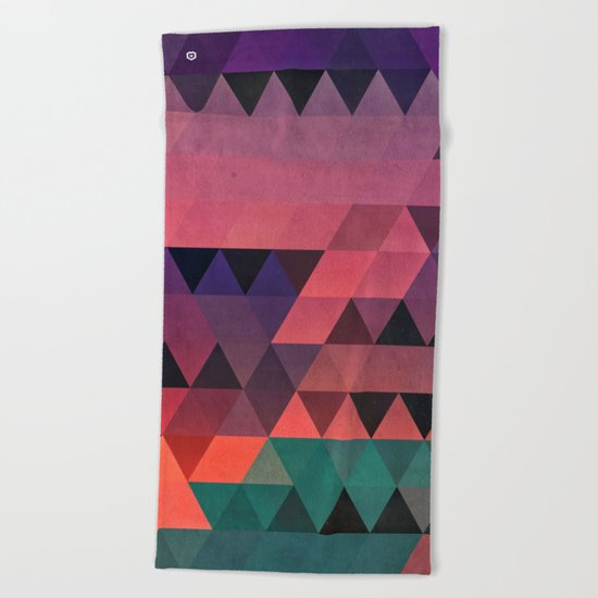 tryy cyty Beach Towel