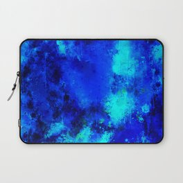 psychedelic color gradient pattern splatter watercolor blue Laptop Sleeve
