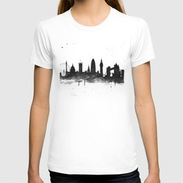 London, black and white T-shirt