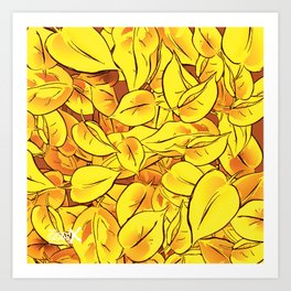 Yellow Leaves - Ver 1 (you can create set with Yellow Leaves Ver 2) Art Print