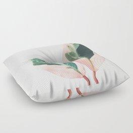 Pink Leaves I Floor Pillow