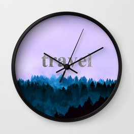 Travel - Forest Wanderlust Wall Clock
