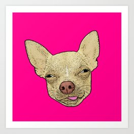 Chihuahua - Lick Me! Art Print
