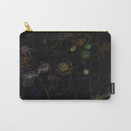 Little Daisies Of The Desert in Neon Carry-All Pouch