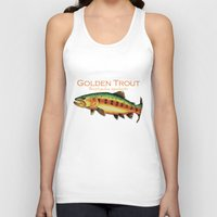 trout Tank Tops featuring Golden Trout by MoosePaw