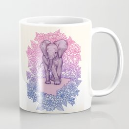 Cute Baby Elephant in pink, purple & blue Coffee Mug