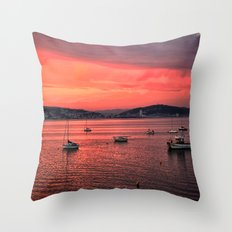 Mumbles Harbour after Sunset. Throw Pillow