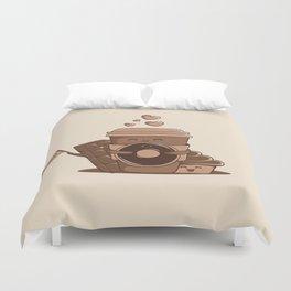 Caffeinated Love Duvet Cover