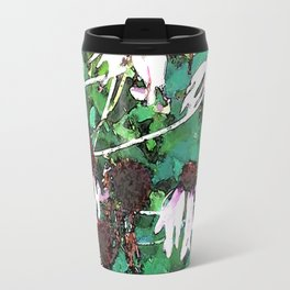 Watercolor Echinacea Travel Mug
