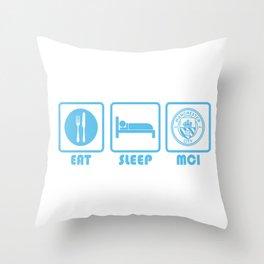 ESP: Man City Throw Pillow