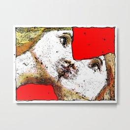 women kiss Metal Print