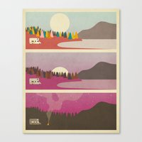 jazzberry Canvas Prints featuring Campfire by Jazzberry Blue