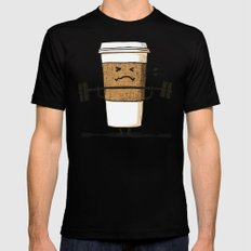 Strong Coffee Black Mens Fitted Tee SMALL