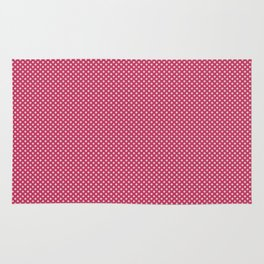Dark Pink Spotty Pattern Rug