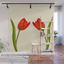 Red tulips Wall Mural