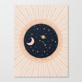 Love in Space Canvas Print