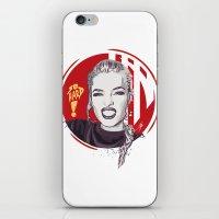 cassandra jean iPhone & iPod Skins featuring Jean by Yasin IŞIK