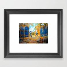 The Blue Gates /Haiti Framed Art Print