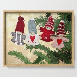 Christmas tree dolls Serving Tray