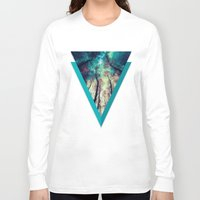 nordic Long Sleeve T-shirts featuring NORDIC LIGHTS by RIZA PEKER