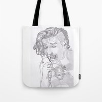 matty healy Tote Bags featuring Matty by ☿ cactei ☿