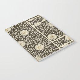 Retro Floral Black Notebook