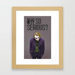 Joker - Why so serious - Toy Building Bricks Framed Art Print
